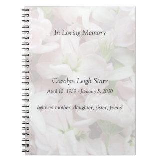 ピンクおよび白い花は記念物衰退します ノートブック