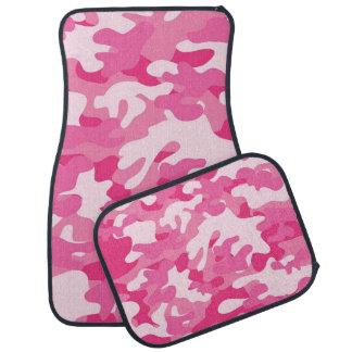 ピンクおよび白い迷彩柄のデザイン カーマット