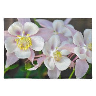 ピンクおよび白い鳩の花 ランチョンマット