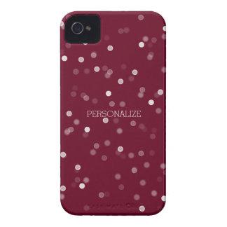 ピンクおよび白い《写真》ぼけ味の紙吹雪 Case-Mate iPhone 4 ケース