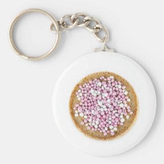 ピンクおよび白いMuisjes Keychain キーホルダー