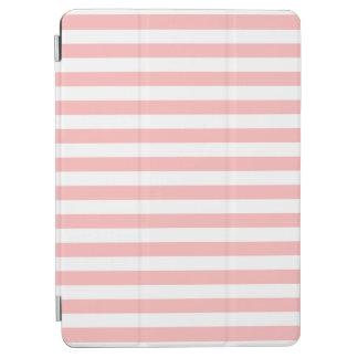 ピンクおよび白のストライプなパターン iPad AIR カバー