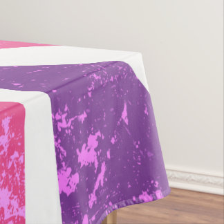 ピンクおよび紫色のイギリス テーブルクロス