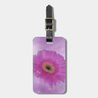 ピンクおよび紫色のガーベラのデイジー ラゲッジタグ