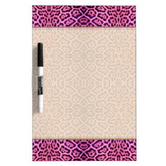 ピンクおよび紫色のジャガーの毛皮 ホワイトボード