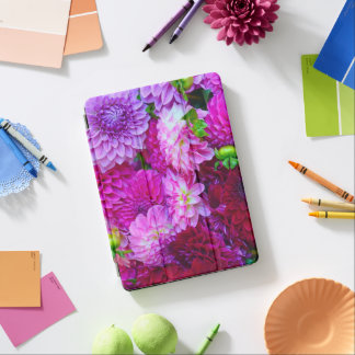 ピンクおよび紫色のダリアの花 iPad AIR カバー