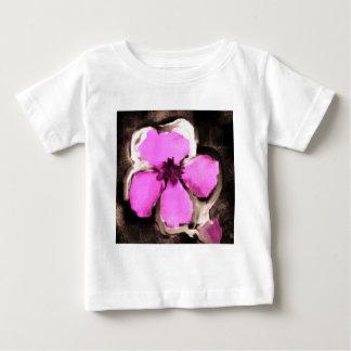 ピンクおよび紫色のパンジー ベビーTシャツ