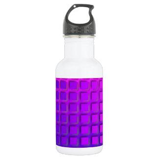 ピンクおよび紫色のファンキーな正方形パターン ウォーターボトル