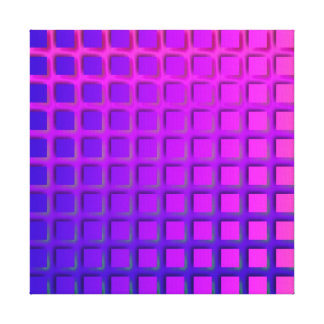 ピンクおよび紫色のファンキーな正方形パターン キャンバスプリント
