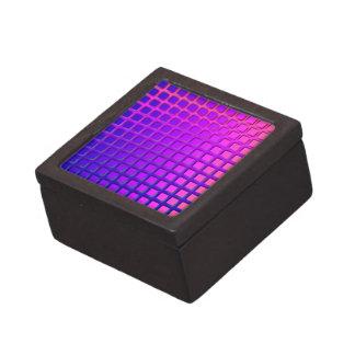 ピンクおよび紫色のファンキーな正方形パターン ギフトボックス