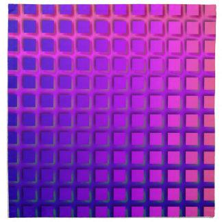 ピンクおよび紫色のファンキーな正方形パターン ナプキンクロス