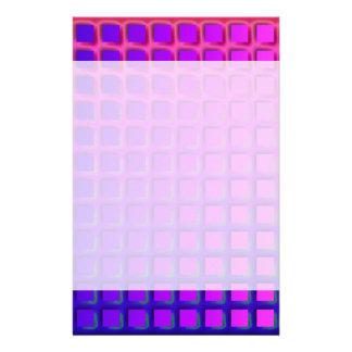 ピンクおよび紫色のファンキーな正方形パターン 便箋
