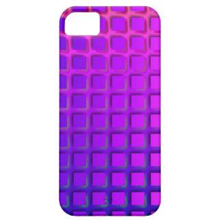 ピンクおよび紫色のファンキーな正方形パターン iPhone SE/5/5s ケース