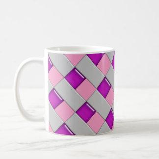 ピンクおよび紫色のモザイク・タイルのコーヒー・マグ コーヒーマグカップ