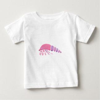 ピンクおよび紫色のヤドカリ ベビーTシャツ