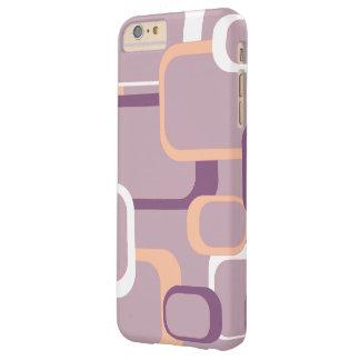 ピンクおよび紫色のレトロの正方形 BARELY THERE iPhone 6 PLUS ケース