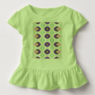 ピンクおよび紫色の女の子の小さいチューリップはワイシャツを波立たせました トドラーTシャツ