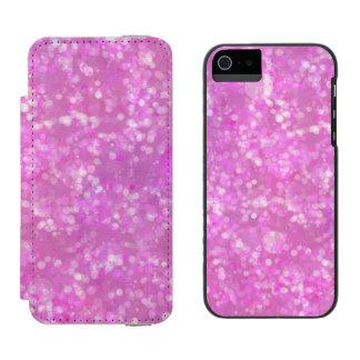 ピンクおよび紫色の妖精の塵 iPhone SE/5/5sウォレットケース