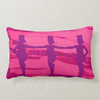 ピンクおよび紫色の応援の発育阻害の枕 ランバークッション