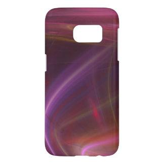 ピンクおよび紫色の渦巻くことベールの抽象芸術 SAMSUNG GALAXY S7 ケース