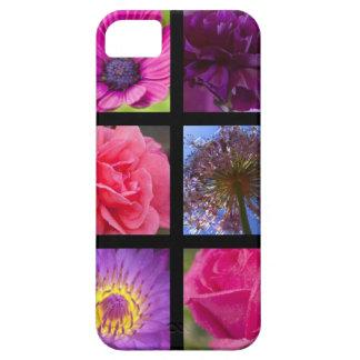 ピンクおよび紫色の花 iPhone SE/5/5s ケース