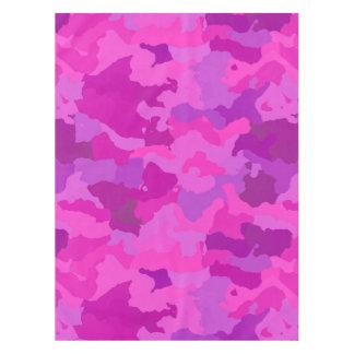 ピンクおよび紫色の迷彩柄 テーブルクロス