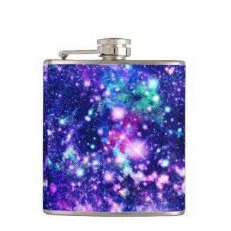 ピンクおよび紫色の銀河系の星 フラスク
