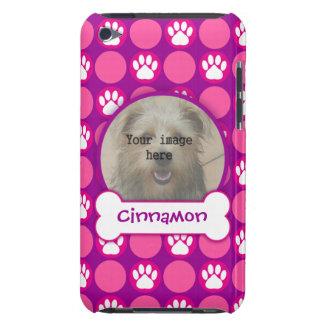 """ピンクおよび紫色の""""子犬""""の点の写真テンプレート Case-Mate iPod TOUCH ケース"""