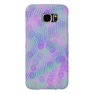 ピンクおよび紫色のSamsungは場合に電話をかけます Samsung Galaxy S6 ケース