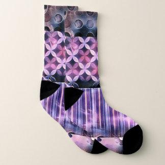 ピンクおよび紫色のVibe ソックス