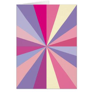 ピンクおよび紫色キャンデーはサンキューカードを着色します カード
