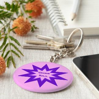 ピンクおよび紫色銃の殺害Keychain キーホルダー
