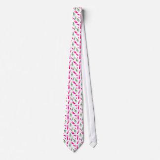 ピンクおよび緑のかわいい毛のファッションの美しい ネクタイ