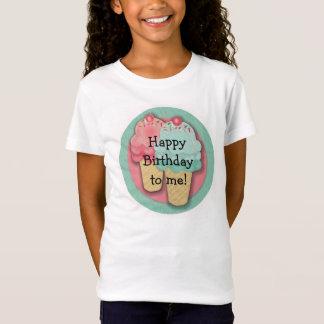 ピンクおよび緑のアイスクリームのハッピーバースデー Tシャツ