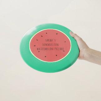 ピンクおよび緑の夏のおもしろいのスイカのフリズビー Wham-Oフリスビー