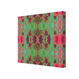 ピンクおよび緑の大理石 キャンバスプリント