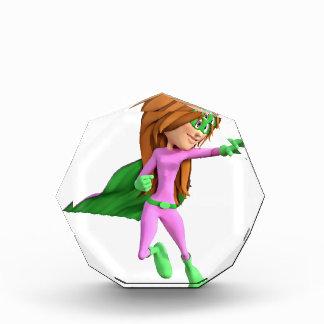 ピンクおよび緑の極度の漫画の女の子 表彰盾