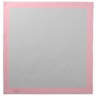 ピンクおよび薄い灰色のナプキン ナプキンクロス