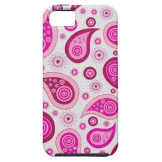 ピンクおよび薄紫のペーズリーパターン iPhone SE/5/5s ケース