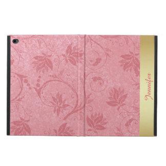 ピンクおよび金ゴールドの花のiPadは2箱を乾燥します Powis iPad Air 2 ケース