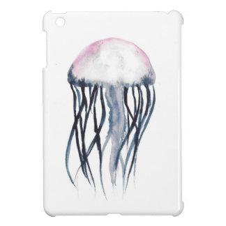 ピンクおよび青いくらげ iPad MINIケース