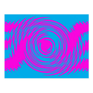 ピンクおよび青いさざ波の郵便はがき ポストカード
