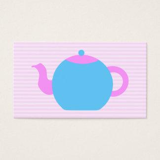 ピンクおよび青いティーポット映像 名刺