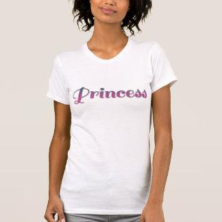 ピンクおよび青いプリンセス Tシャツ