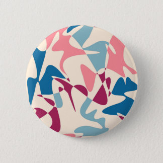 ピンクおよび青い抽象的概念 缶バッジ