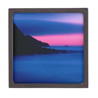 ピンクおよび青い海の日没の優れた宝石箱 ギフトボックス