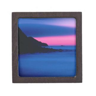 ピンクおよび青い海の日没の優れた装身具箱 ギフトボックス