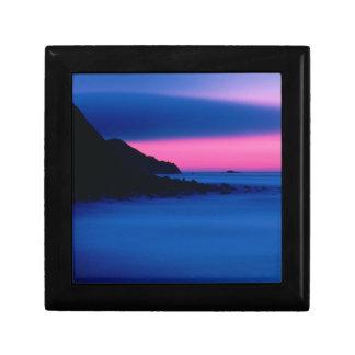 ピンクおよび青い海の日没の装身具箱 ギフトボックス