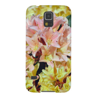ピンクおよび黄色いシャクナゲの花 GALAXY S5 ケース