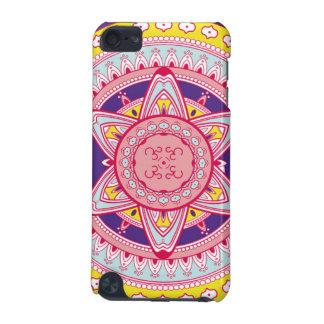 ピンクおよび黄色い曼荼羅の携帯電話の箱 iPod TOUCH 5G ケース